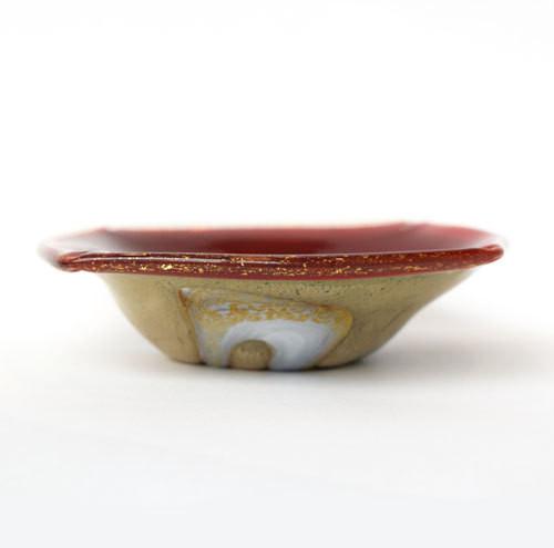 風紋四角小皿