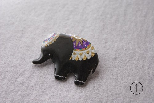 Elephant brooch  11colors