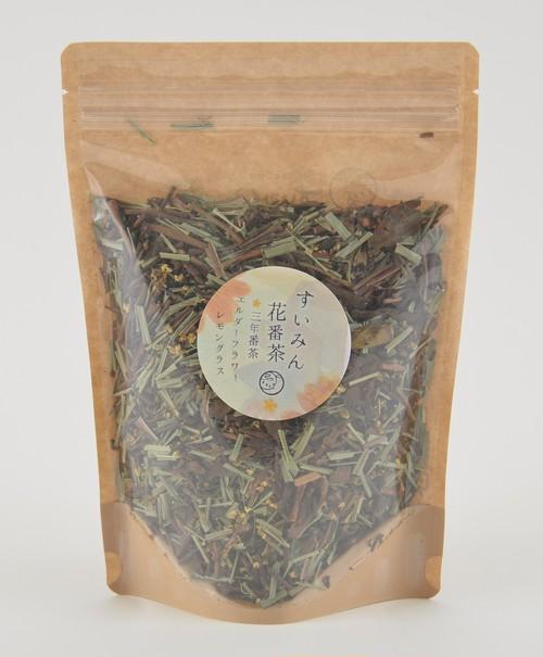 すいみん花番茶(レモングラス×エルダーフラワー×三年番茶) リーフタイプ 100g