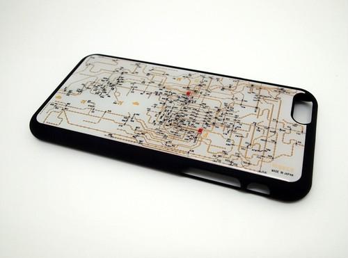 関西回路線図 for HRKS(LED2個実装) iphone6/6s  case 白【LEDは光りません】【回路線図ステッカー4種セットプレゼント】