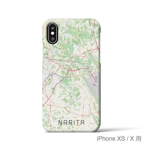 【成田】地図柄iPhoneケース(バックカバータイプ・ナチュラル)