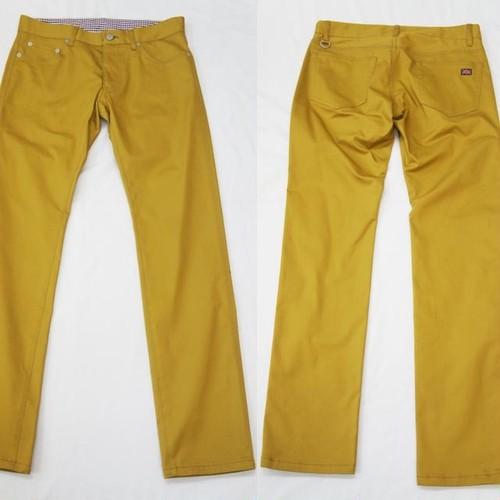 MASTERED YELLOW STRETCH CHINO SKINNY PANTS