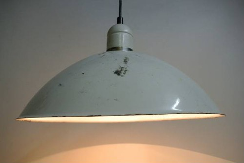 50's Enamelled Metal Shade HNG Lamp