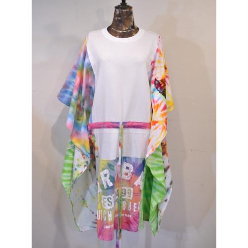 【 RehersalL 】wide Tshirt onepiece(White 2) /【リハーズオール】ワイドTシャツワンピース(ホワイト2)
