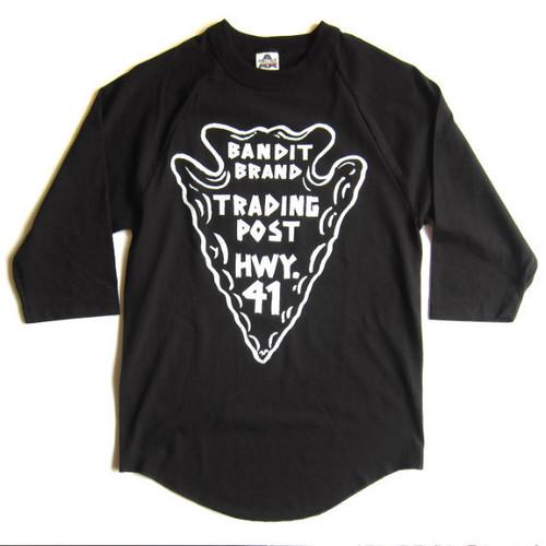 "Bandit Brand ""Trading Post"" baseball tee #BBMBB-tpbk"