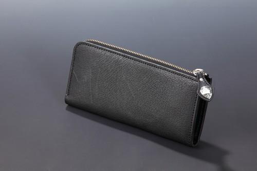 【国産イノシシ革】Lジップ ロングウォレット(Black)【NOTO Leather使用】