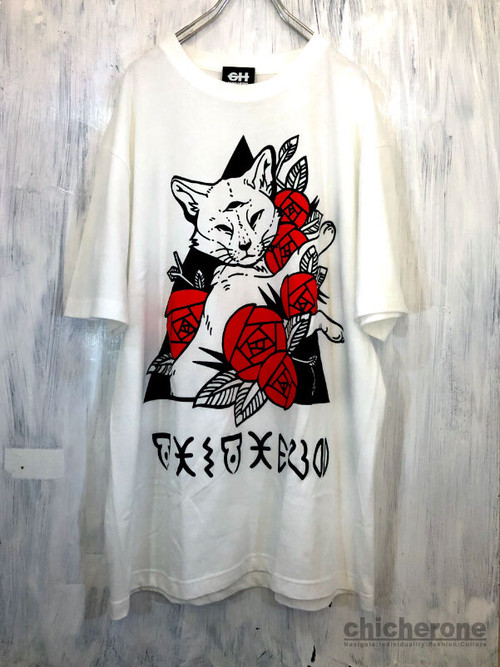 【CHIC HERO】CAX & ROSE T/S WHITE