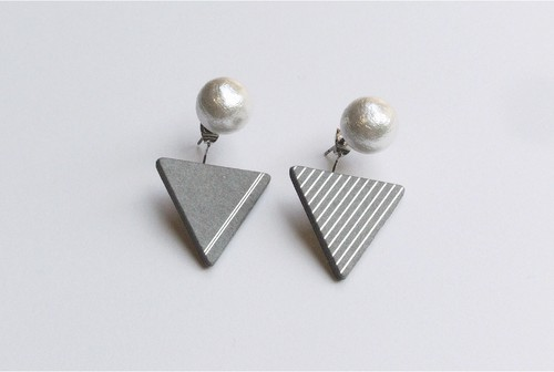 △PIERCE / EARRING【GRAY】