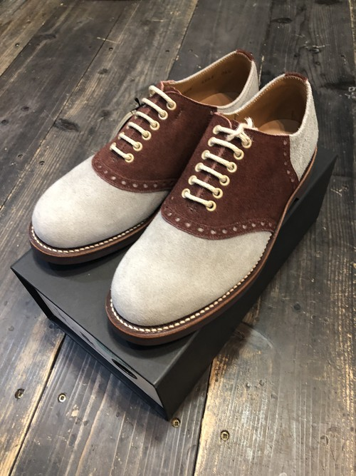 【REGAL × GLADHAND】 SADDLE SUEDE- SHOES [GRAY × BROWN]