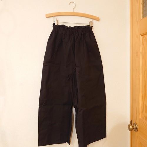 ピーチスキン 黒 ワイドパンツ フリーサイズ