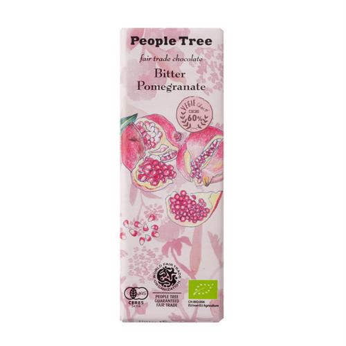People Tree ェアトレードチョコ オーガニック ビター・ザクロ ピープルツリー