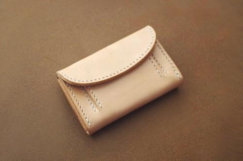 【受注製作】本革サドルレザーのミニミニ財布【スクエア】