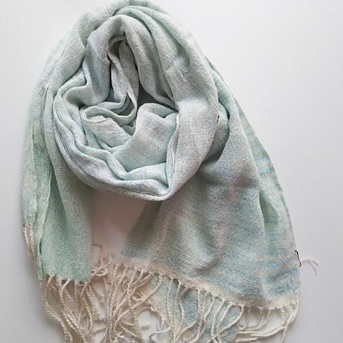 さらっと心地いい♪ 手織り 手染め 大人のガーゼストール~コットン 290