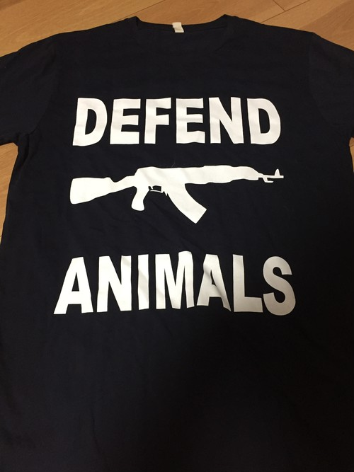 vegan x merch  Defend Animals Tシャツ