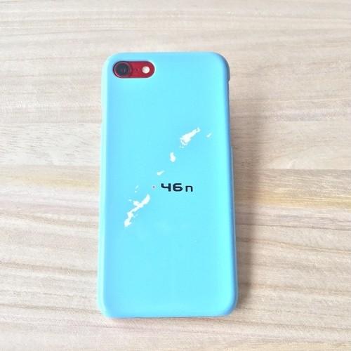 46n  iPhone 7 ケース  ライトブルー