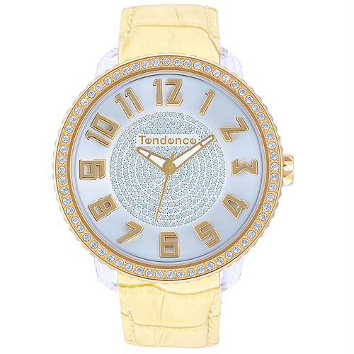 【Tendenceテンデンス】GLAM TY430143/グラム ベージュ スワロフスキー スイスメイド腕時計