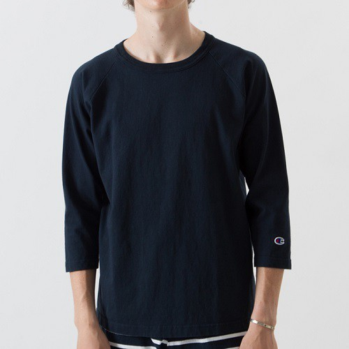 "Champion / チャンピオン | T1011 USA "" 3/4 RAGLAN SLEEVE "" - Navy"