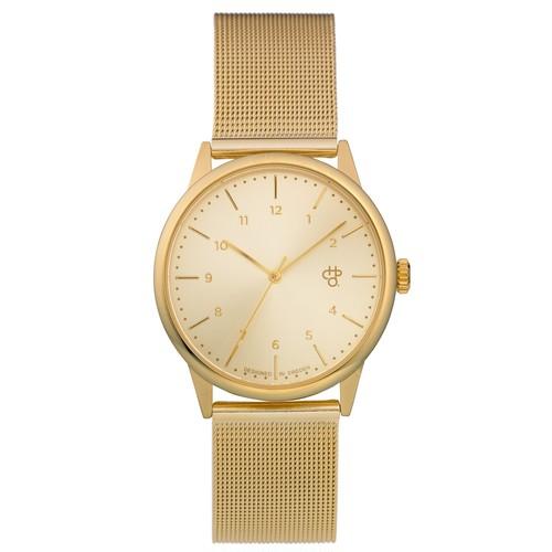 RAWIYA GOLD【CHPO】 Gold metal dial. Metal mesh wristband