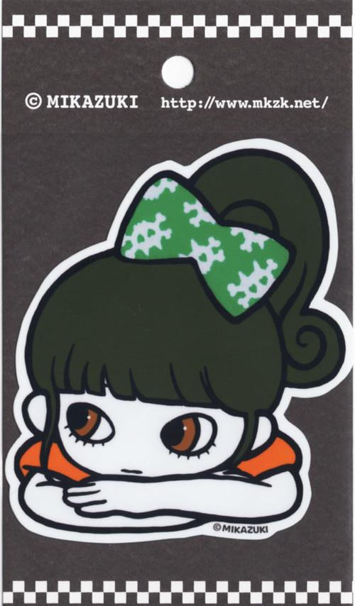MIKAZUKI / ミカヅキ ステッカー ダイカット  リボン GR[ S-40 ]