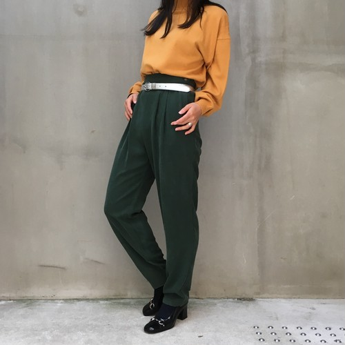 90's Rayon simple easy pants