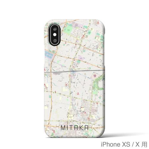 【三鷹】地図柄iPhoneケース(バックカバータイプ・ナチュラル)