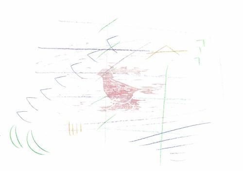 木版画「コクマルガラス」