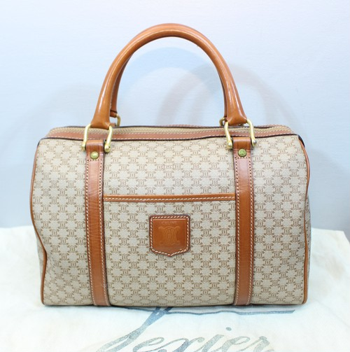 .OLD CELINE MACADAM PATTERNED HAND BAG MADE IN ITALY/オールドセリーヌマカダム柄ハンドバッグ 2000000034294