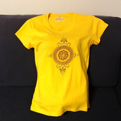 【海外土産】ビーズTシャツ11黄(タイ)◆送料無料
