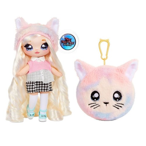 送料無料 Na! Na! Na! Surprise 2-in-1 Fashion Doll and Plush Purse Series 4 – Paula Purrfect