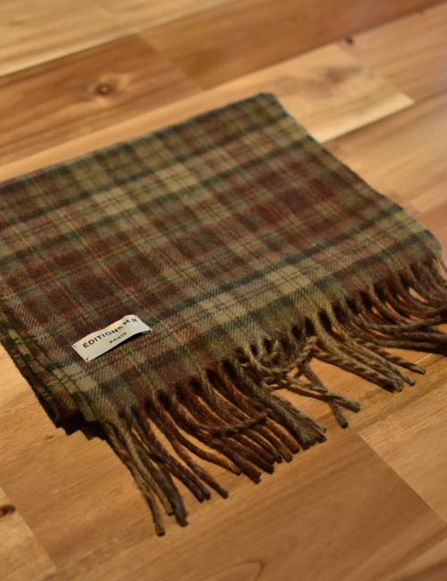 Editions M.R Edward Checked Scarf MOSS