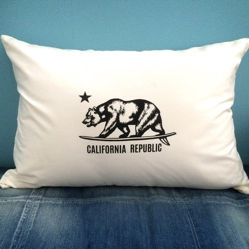 CALIFORNIA PILLOW CASE [WHITE]