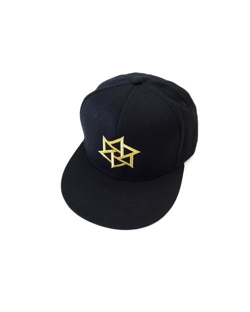 帽子1号 「鱗廻(りんね)」 黒(金刺繍)
