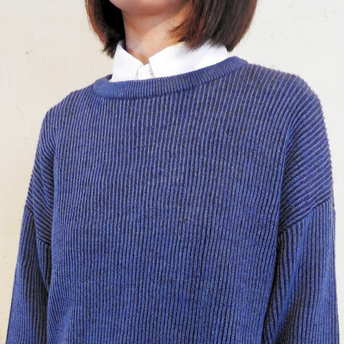 drop shoulder rib knit