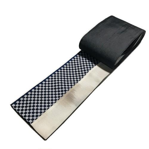 シルク混デニム 半巾帯