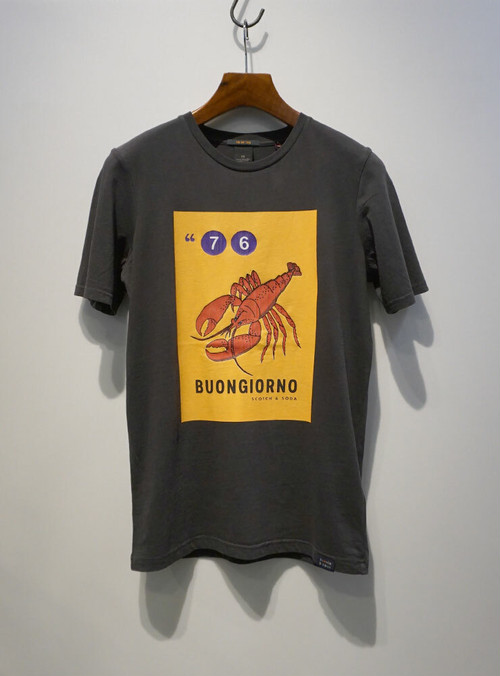 SCOTCH & SODA Lobster Tee ブラック