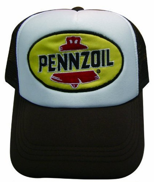 PENZOILのワッペンがついたメッシュキャップ