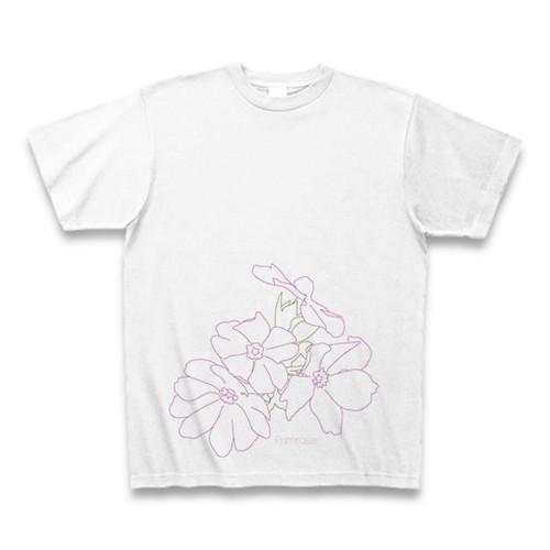 サクラソウ フラワーイラストTシャツ