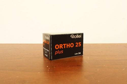【モノクロネガフィルム 35mm】Rollei(ローライ) ORTHO25 36枚撮り