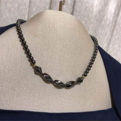 【ヘマタイト】天然石 パワーストーン デザイン ネックレス