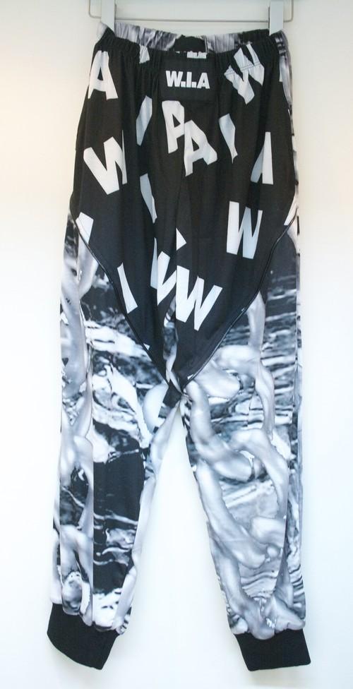 W.I.A BLACK PLASTIC SWEAT PANTS プラスティック スウェット パンツ / BLACK 70%OFF