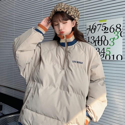 【アウター】秋冬人気ファッションカジュアルファスナーハイネック配色アウター