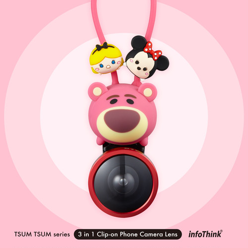 InfoThink Disney TSUM TSUM ツムツム 3 in 1 Clip-on スマホカメラレンズ iCamLens-100-Lotso