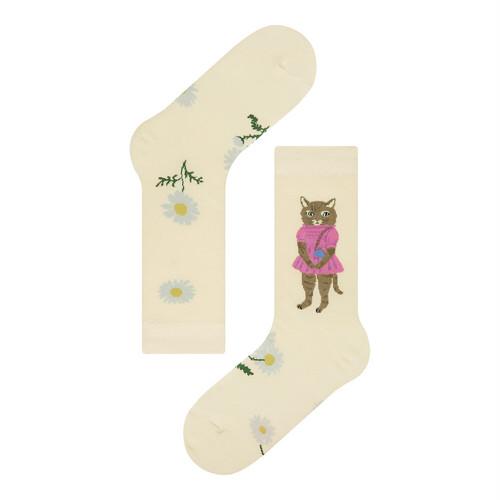 Nathalie Lete×Socks appeal DAISY CAT 靴下
