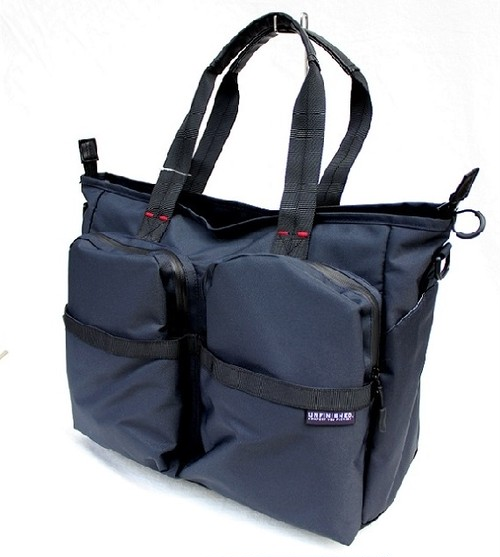 UNFINISHED「PACK」2WAY TOTE BAG<NAVY>
