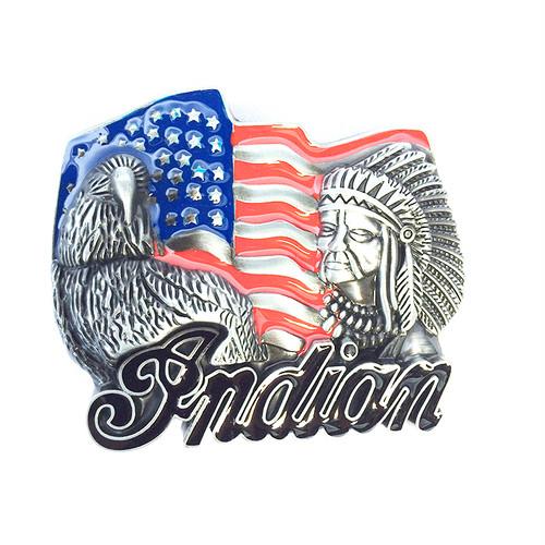 インディアン ネイティブ イーグル USA 国旗 星条旗 バックル ベルト 単品 384