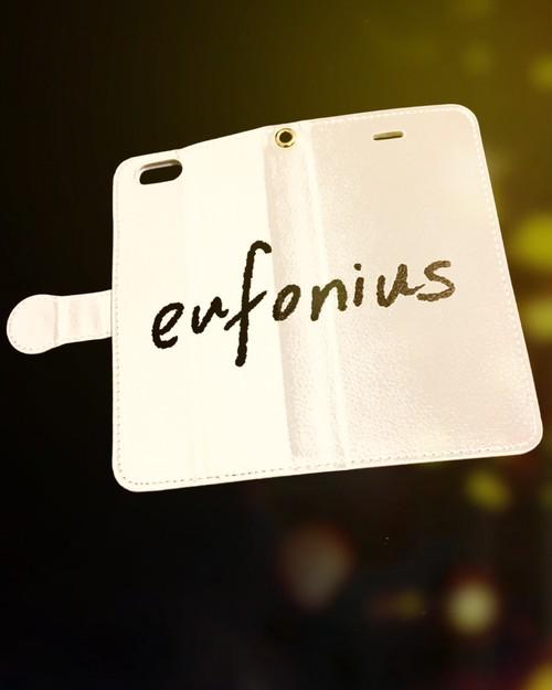 eufonius シンプルロゴデザイン手帳型スマホケース