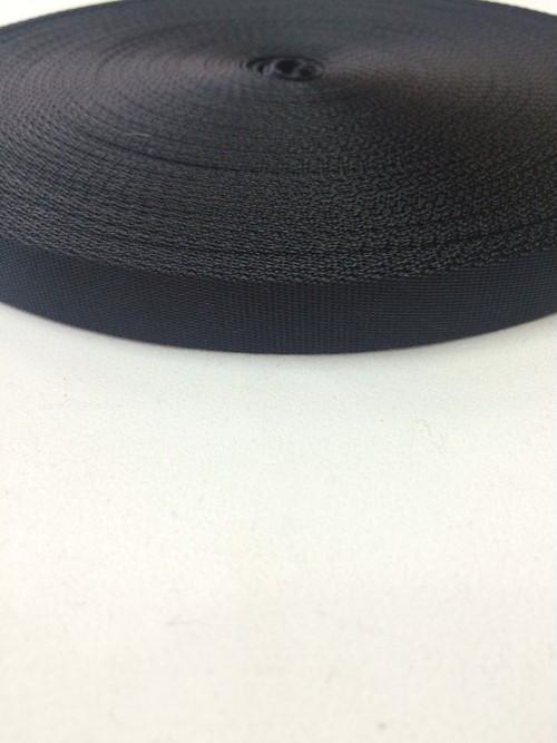 ナイロン  流綾織  15mm幅  1.0mm厚 黒  5m