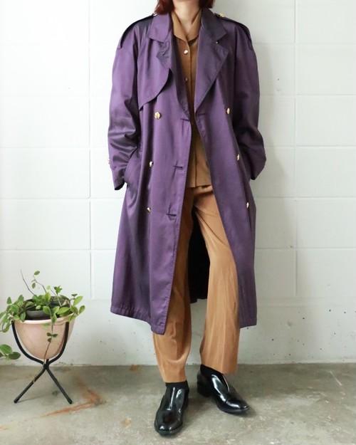 purple tranch coat