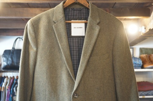 Ben Sherman moss green tweed Jacket