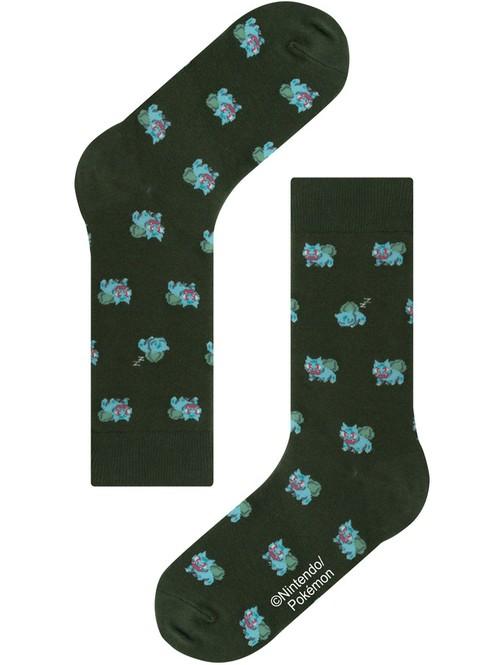 ※5月再入荷予定【Pocket Monsters socksappeal】Fushigidane│【ポケットモンスター ソックスアピール】フシギダネ